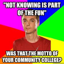 Community College Meme - buzinga sheldon on picking up girls quickmeme