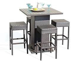 outdoor bar height table and chairs set outdoor bar height table and chairs myforeverhea com