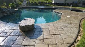 Patio Foundation Stamped Concrete Pool Deck And Patio Sealed With Ar350 By