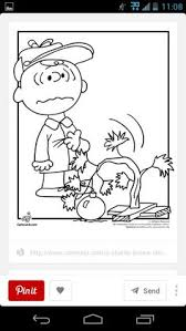 charlie brown christmas tree coloring snoopy lucy