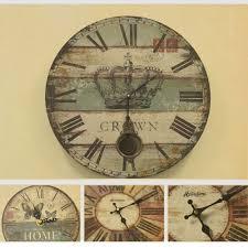 clock designs vintage poster clock designs wall art sticker retro painting