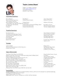 Fancy Resumes Fancy Plush Design Dance Resume Template 4 Resume Examples How To