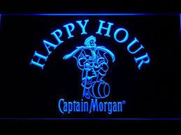 captain morgan neon bar light captain morgan happy hour led neon sign safespecial