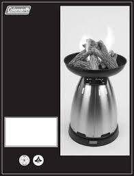 coleman stove manual coleman indoor fireplace 5076 user guide manualsonline com