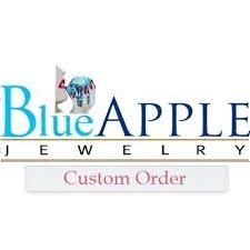 custom order for angelique art deco design classic wedding