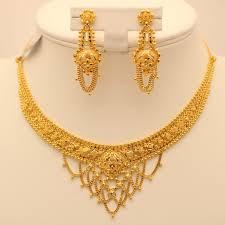 gold set 22 carat indian gold necklace set 31 3 grams gold forever