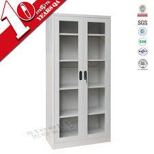 Cheap Storage Cabinets With Doors Glass Door Cabinet Made In China 2 Door Lightweight Steel Filing