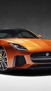 orange cars 2017 jaguar f type svr 2017 orange sports car front view wallpaper