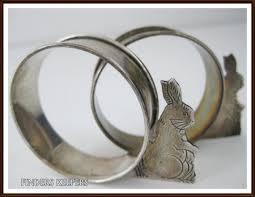 vintage rabbit ring holder images 54 best napkin rings images napkin rings napkins jpg