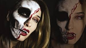 Halloween Skeleton Faces by Vampire Skull Makeup Tutorial For Halloween Looks Good On