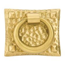 Brass Ring Pulls Cabinet Hardware by Arts U0026 Crafts Hammered Ring 1 3 4