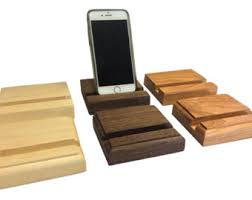 wood phone stand etsy