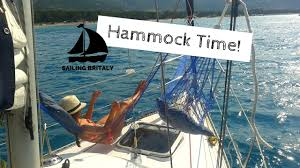 how to fit a hammock or two on a small sailboat sailing