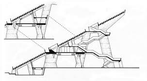 stadium section drawings stadia pinterest drawings
