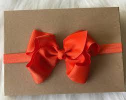 big present bow big orange bow etsy