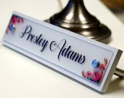 Name Plates For Office Desk Desk Name Plate Etsy Onsingularity