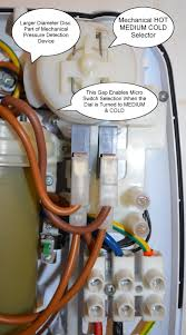 how an electric shower works and common electric shower faults micro switches front