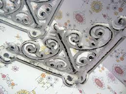Shabby Chic Shelf Brackets by Shelf Bracket 4 Mini Cast Iron Fdl Ornate Small Shabby Chic White