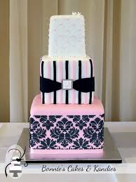 baby pink and black damask gympie wedding cake bonnie u0027s cakes