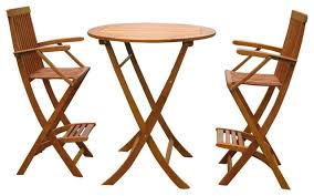 3 Piece Bar Height Patio Set Bar Height Table And Chairs Patio Furniture Modrox Com