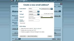 Create A Business Email Address by How To Create A New Mailbox 123 Reg Youtube