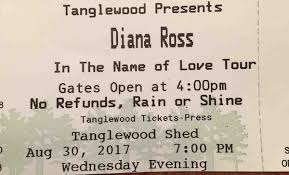 coverage diana ross brings in the name of to tanglewood