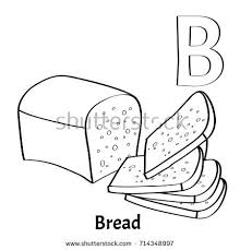 Vector Alphabet Letter B Coloring Page Stock Vector 714348997 Bread Coloring Page