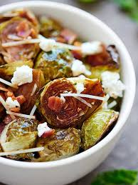 roasted brussels sprouts recipe w bacon goat cheese