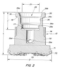 patent us6502650 percussive down the hole hammer for rock