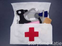 for sick storytime i decided to make a felt doctor bag in the