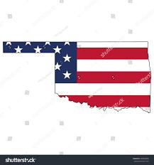 Flag Of Oklahoma Vector Map Us Flag Inside Oklahoma Stock Vector 440830846