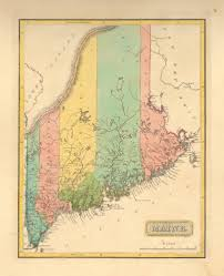 Maine County Map Antique Maps Of Maine