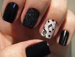 55 latest black nail art design ideas