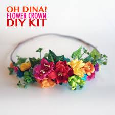 Make Your Own Paper Flowers - rainbow flowers diy flower crown kit