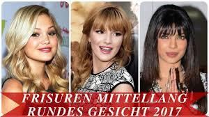 Haarschnitt Lange Haare Rundes Gesicht by Frisuren Mittellang Rundes Gesicht 2017