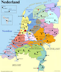 netherlands location in europe map list of cities in the netherlands by province
