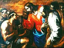 Christ Healing The Blind Healing Of The Blind Born Miracle Of Christ By A Painter