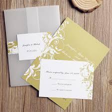 Wedding Pocket Invitations Classic Yellow Floral Design Pocket Invitations Iwgy061 Wedding