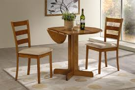 3 piece dining set room chairs round table for 6 modern and g