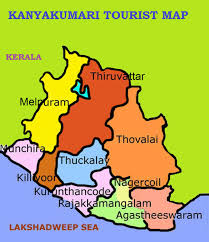 South India Map by Kanyakumari Tourist Map Tourist Attractions In Tamilnadu South