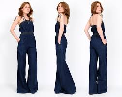 s jumpsuits vintage 70s denim bell bottom jumpsuit xs s by tinroofvintage