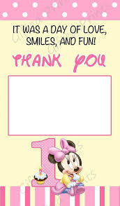 minnie mouse thank you cards you card minnie mouse theme