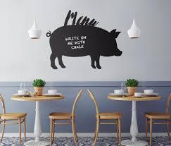 100x78cm chalkboard pig pork blackboard decor mural decals wall 100x78cm chalkboard pig pork blackboard decor mural decals wall sticker restaurant fast food take