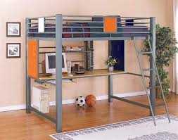 bedroom magnificent full size loft bunk bed with built in study