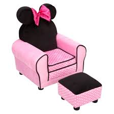 fantastic disney minnie mouse toddler sofa chair and ottoman set