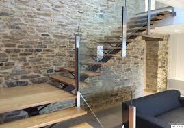 garde corps bois escalier interieur fabrication escalier metal bois escalier moderne en bretagne