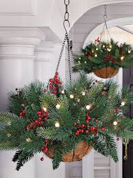 Hard Plastic Christmas Decorations Outdoors Best 25 Christmas Hanging Baskets Ideas On Pinterest Hanging