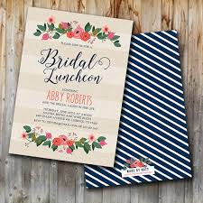 bridesmaids invite whimsy floral bridal luncheon invitation bridal brunch invite