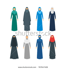 east clothing color middle east women religious stock vector 767847406