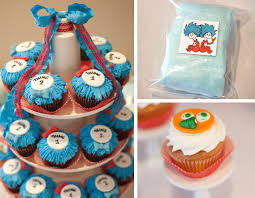 dr seuss cupcakes dr seuss thing 1 thing 2 birthday party birthday